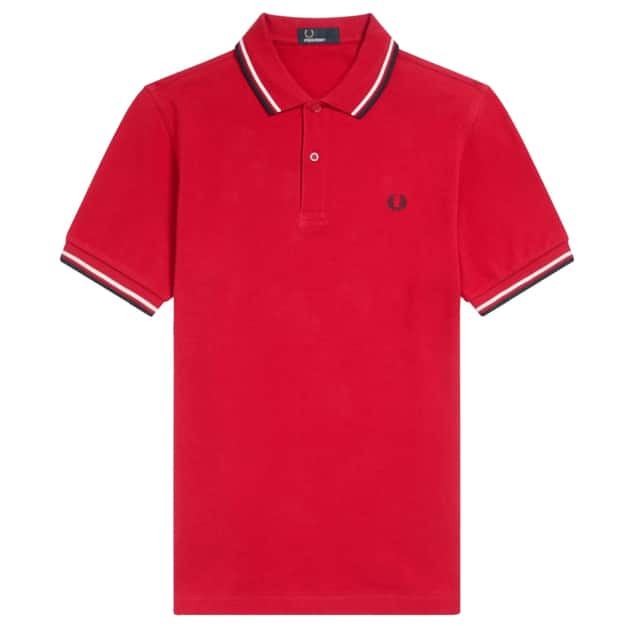 Fred Perry Slim Fit Twin Tipped Shirt Rot