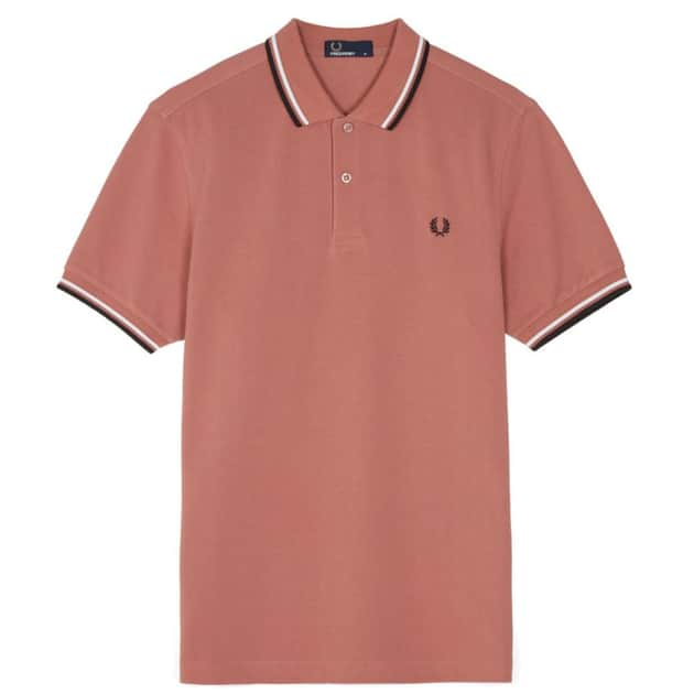 Fred Perry Slim Fit Twin Tipped Shirt Hellrot