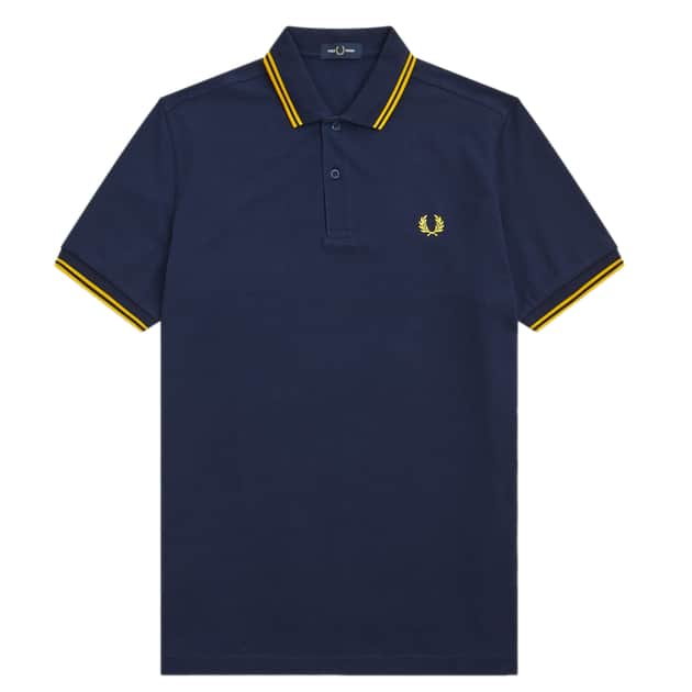 Fred Perry Slim Fit Twin Tipped Shirt Dunkelblau