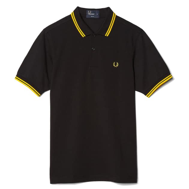 Fred Perry Slim Fit Twin Tipped Shirt Neutral