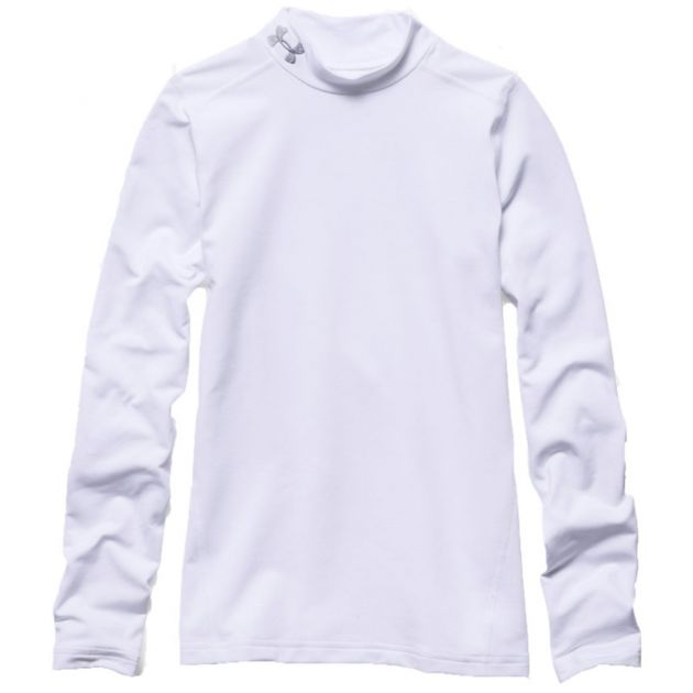 Under Armour Coldgear Longsleeve Mock Kids Weiß