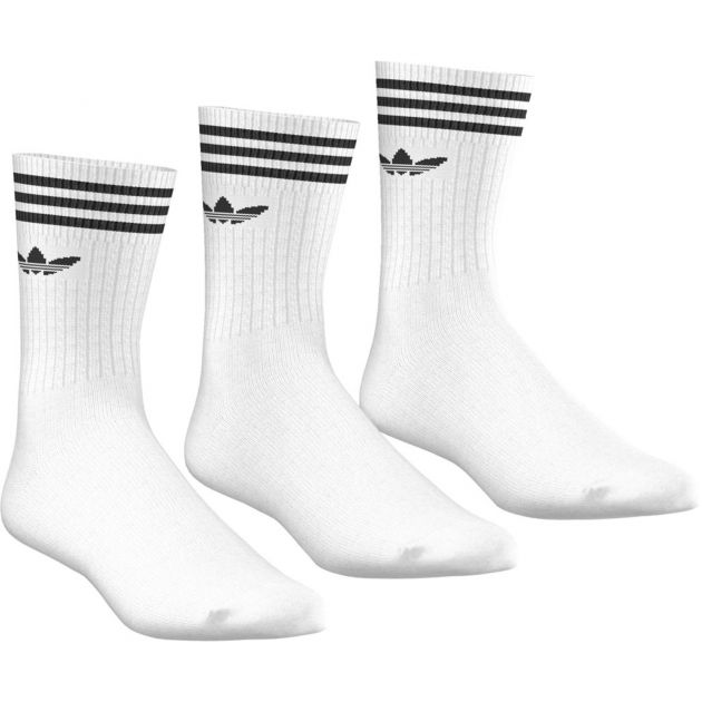 adidas Originals Solid Crew Sock 3 Pack Weiß