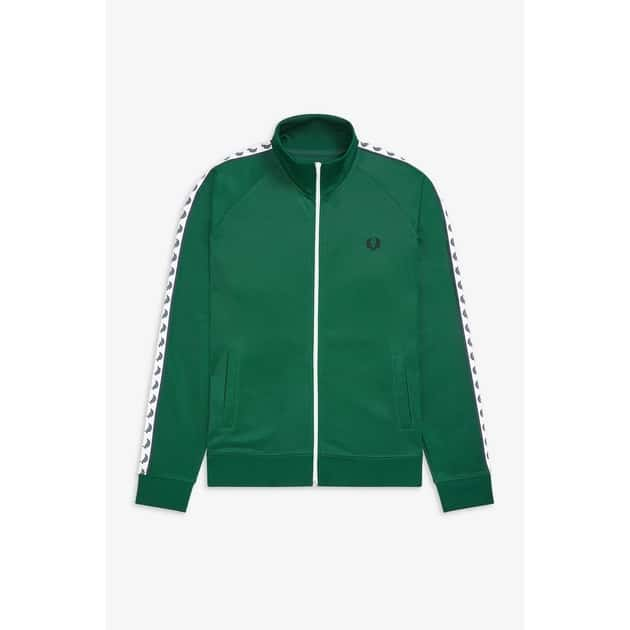 Fred Perry Taped Track Jacket Grün