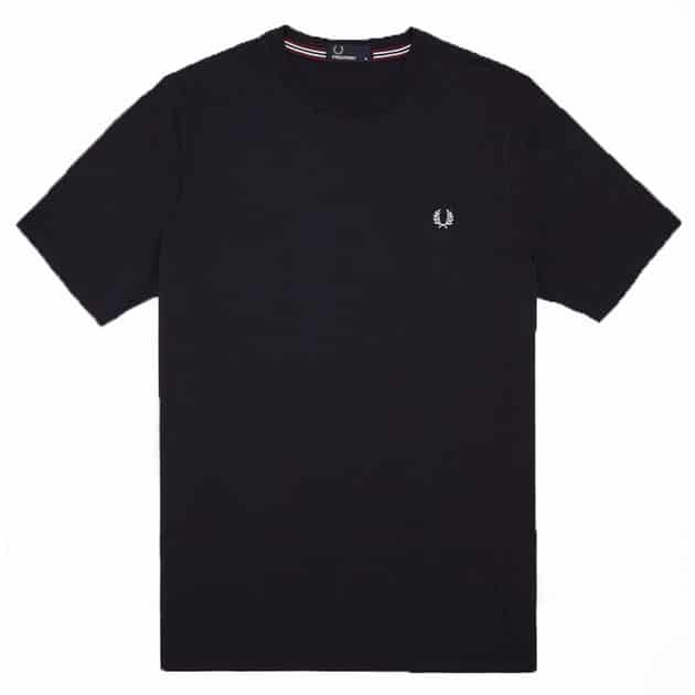 Fred Perry Crew Neck T-Shirt Schwarz