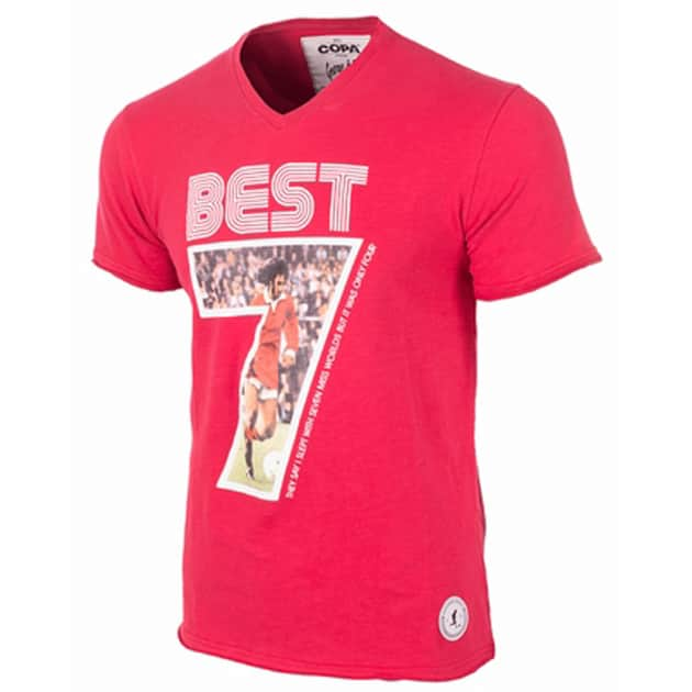 Copa George Best Miss World V-Neck T-Shirt Rot