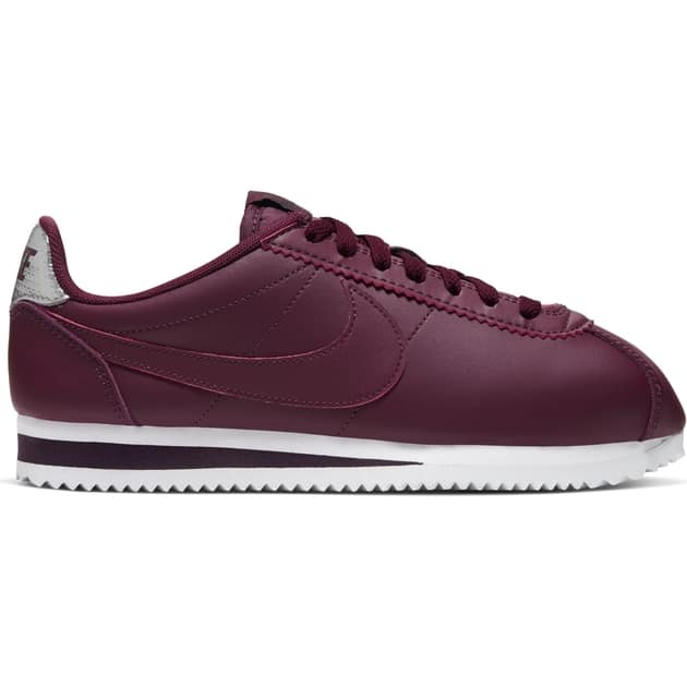 Nike Wmns Classic Cortez Leather Dunkelrot