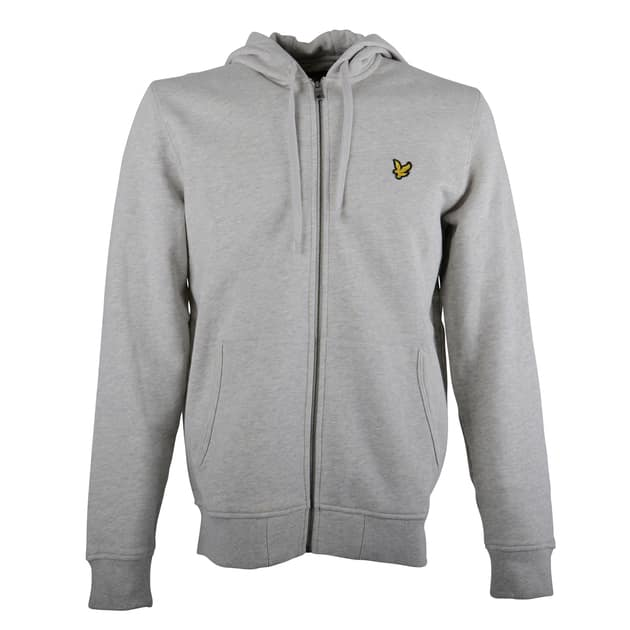 Lyle & Scott Zip Through Hoodie Hellgrau