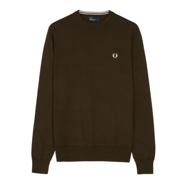 Fred Perry Classic Cotton Crew Neck bei Sport Schuster München