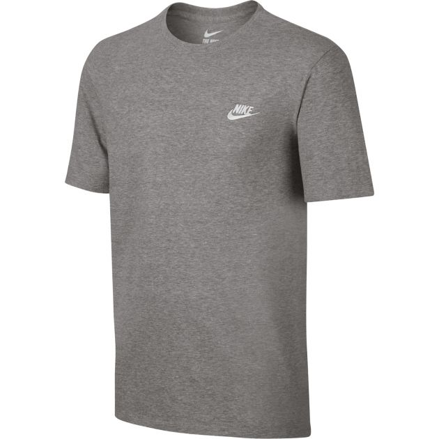 Nike M NSW Tee Club Embrd Futura Grau