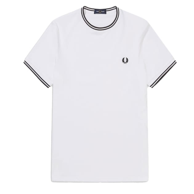 Fred Perry Twin Tipped T-Shirt Weiß