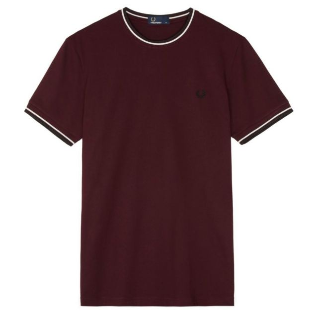 Fred Perry Twin Tipped T-Shirt Dunkelrot