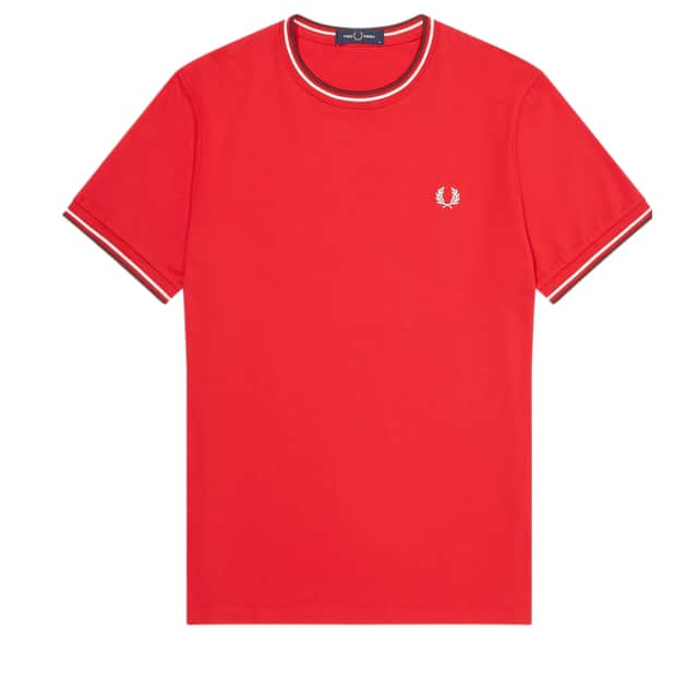 Fred Perry Twin Tipped T-Shirt Rot
