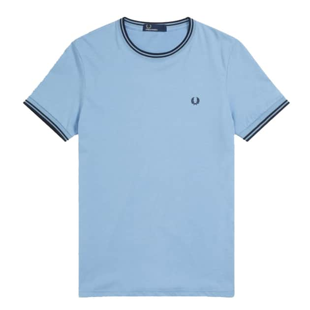 Fred Perry Twin Tipped T-Shirt Hellblau