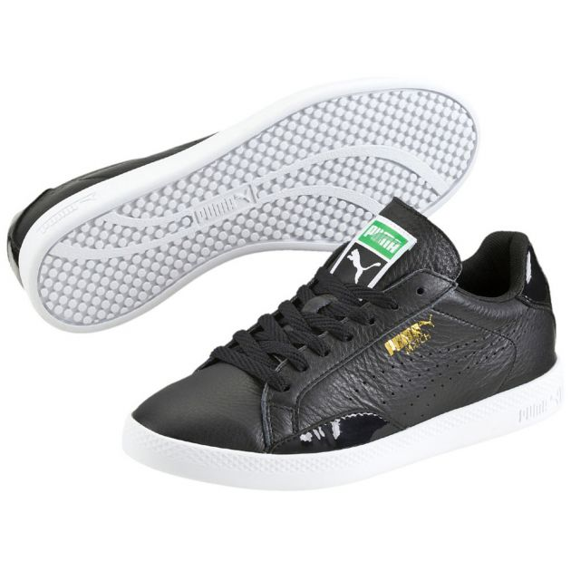 Puma Match Lo Black and White W Schwarz