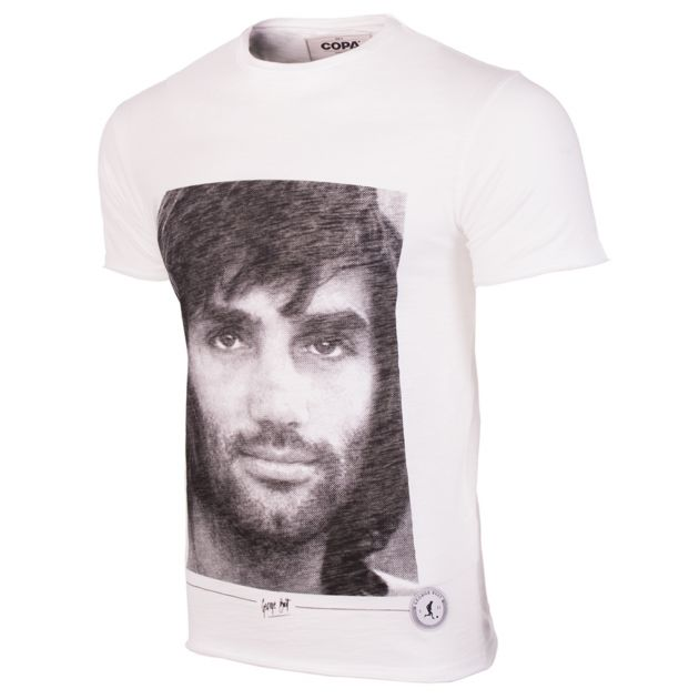 Copa George Best Portrail T-Shirt Weiß