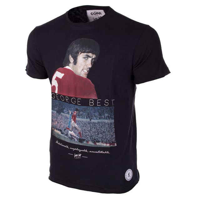 Copa George Best United T-Shirt Schwarz