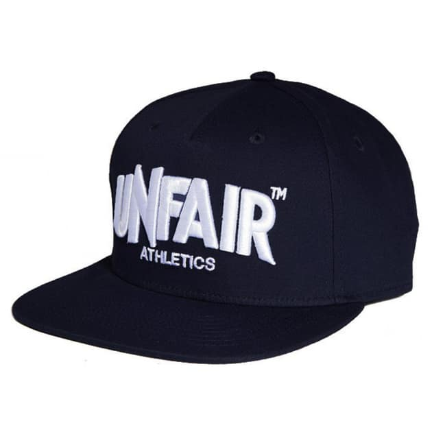 Unfair Athletics Classic Label Snapback Allblack Schwarz