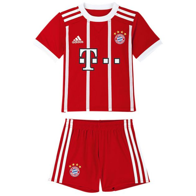 adidas FC Bayern Home Mini Kit Rot
