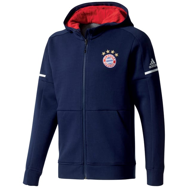 adidas FC Bayern Anthem Zone Jacket Away Dunkelblau
