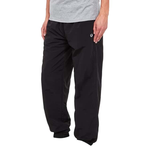 Fred Perry Monochrome Tennis Trousers Schwarz