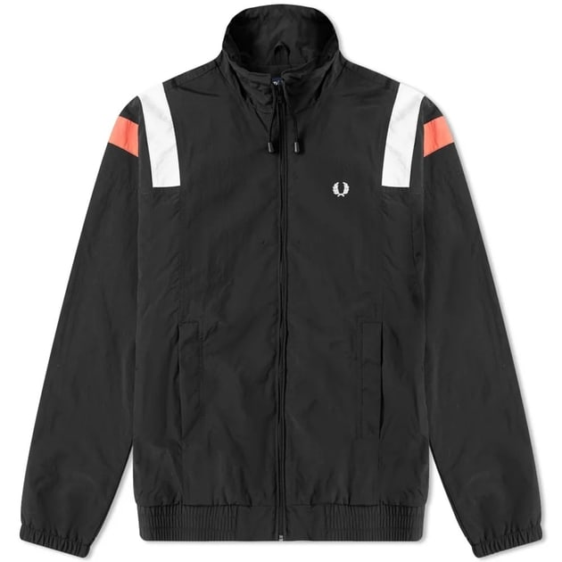 Fred Perry Colourblock Shell Jacket Schwarz