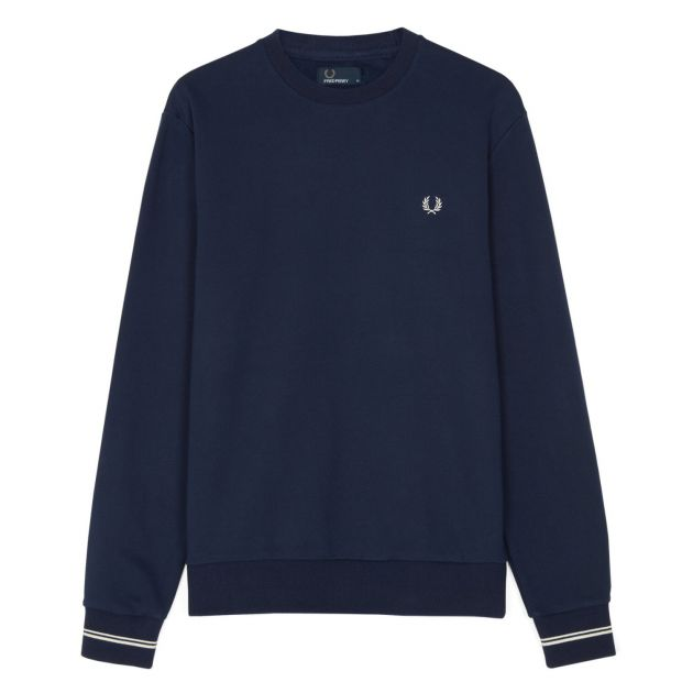 Fred Perry Crew Neck Sweat Blau
