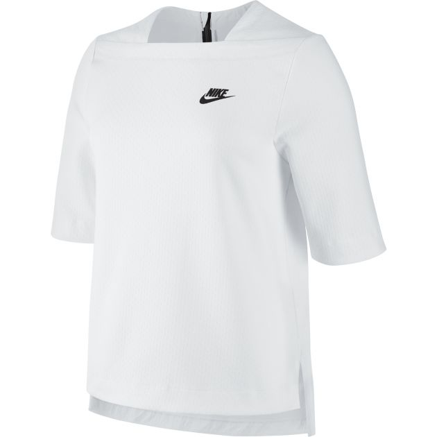 Nike WOMEN'S NIKE SPORTSWEAR TECH FLEECE TOP Weiß