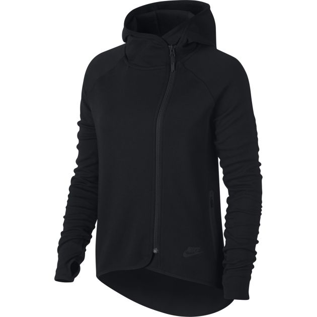 Nike W NSW Tech Fleece Cape FZ Schwarz