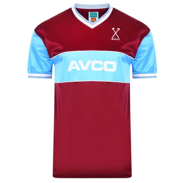 Score Draw West Ham United Trikot 1983 Bunt
