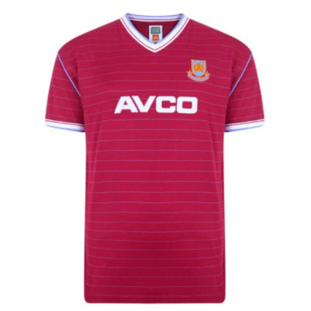 Score Draw West Ham United Trikot 1986 Bunt
