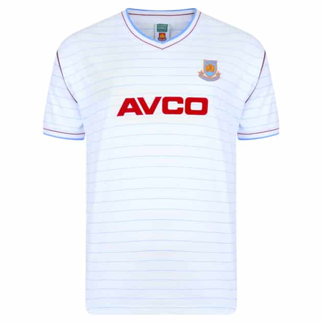 Score Draw West Ham United Trikot 1986 Away Neutral