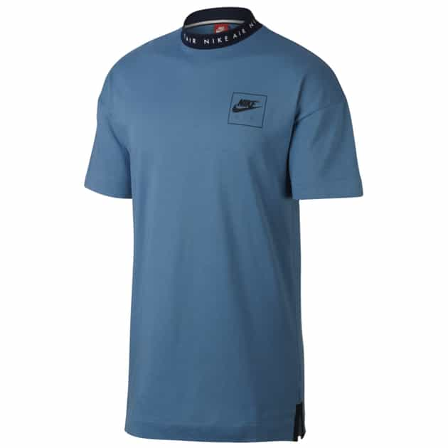 Nike M NSW TOP AIR SS KNT 2 Blau