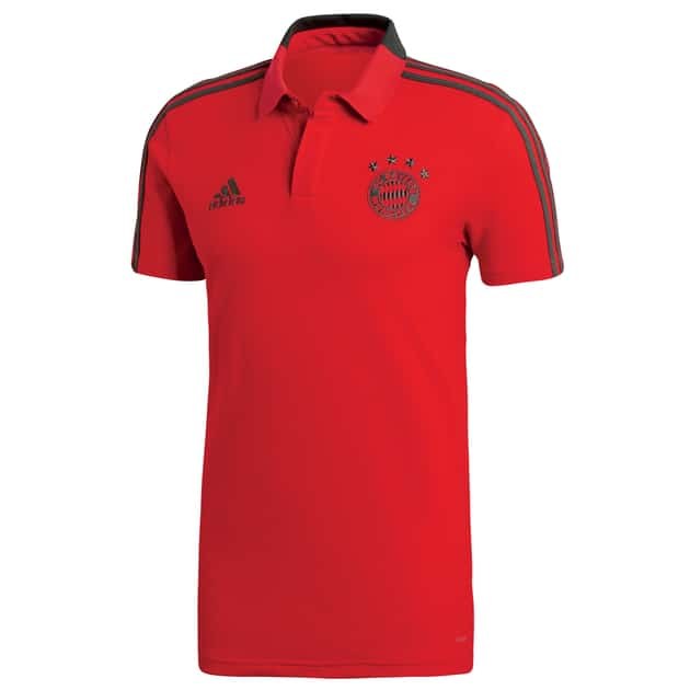 adidas FC Bayern Cotton Polo Rot