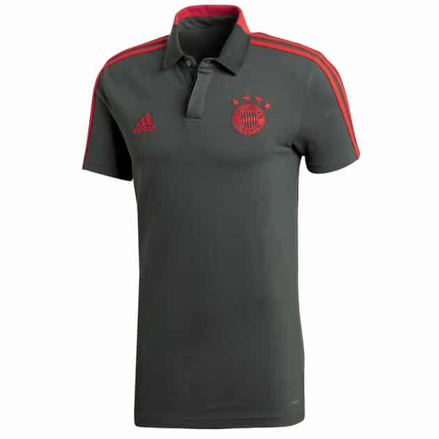 adidas FC Bayern Cotton Polo Grau
