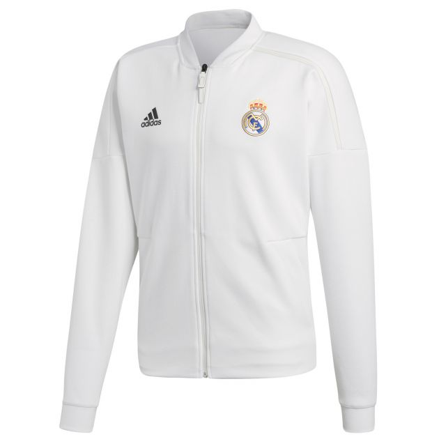 adidas Real Madrid Anthem Jacket Weiß