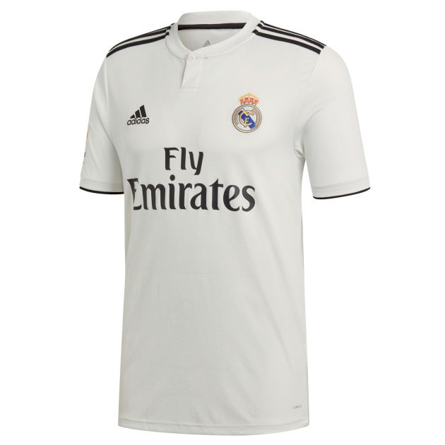 adidas Real Madrid Home Trikot mit LFP Badge Weiß