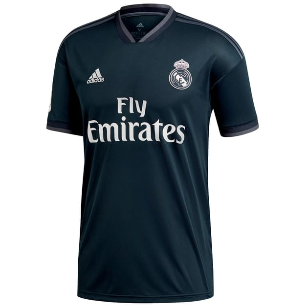 adidas Real Madrid Away Trikot Kids mit LFP Badge - Primera Division (Schwarz | 164)