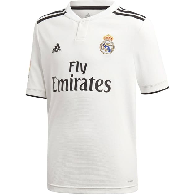 adidas Real Madrid Home Trikot Kids mit LFP Badge Weiß