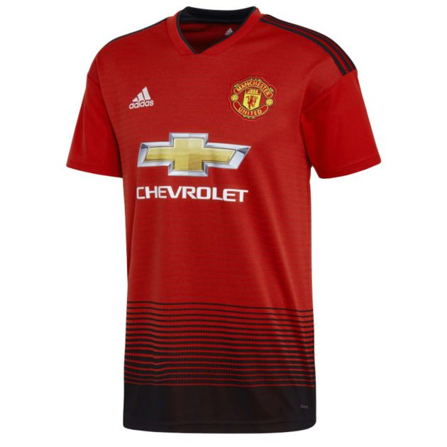 adidas Manchester United Home Trikot Kids Rot