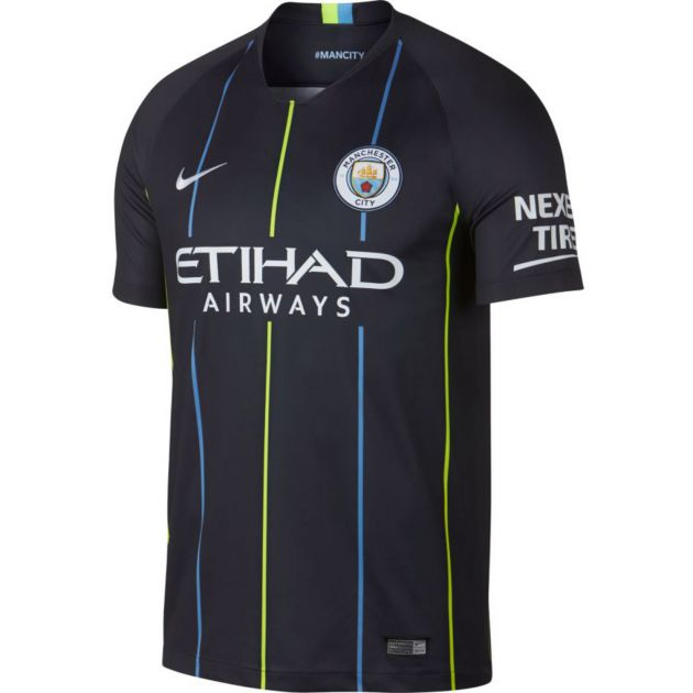 Nike Manchester City Away Trikot Kids Dunkelblau