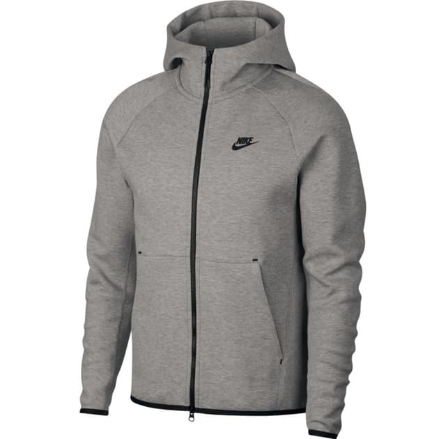 Nike M NSW Tech Fleece Hoodie FZ Hellgrau