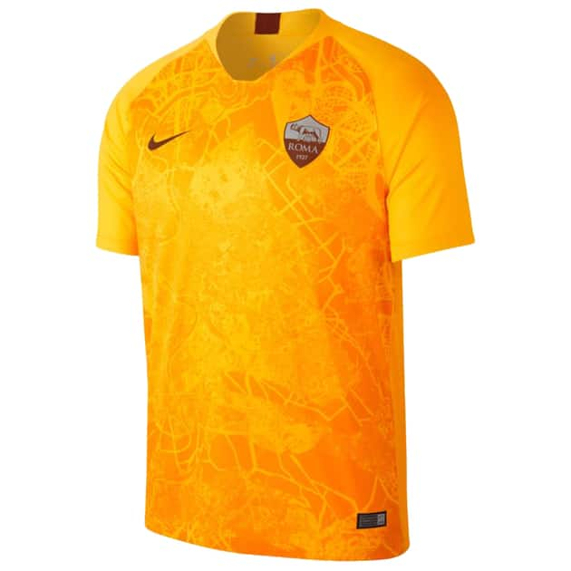 Nike AS Roma Third Trikot Kids Gold