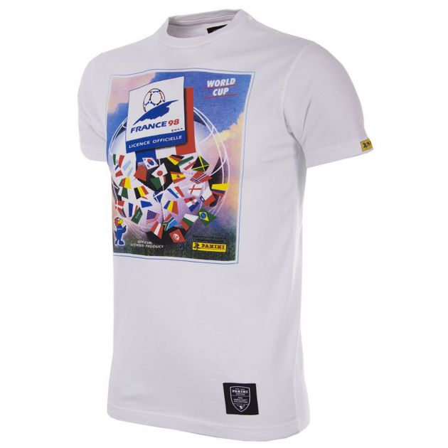 Copa Panini World Cup 1998 T-Shirt Weiß