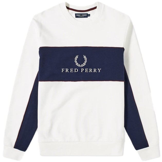 Fred Perry Panel Piped Sweatshirt bei Sport Münzinger München
