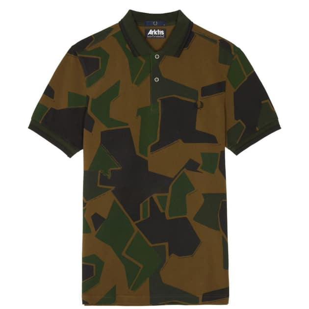 Fred Perry Camouflage Pique Shirt Bunt