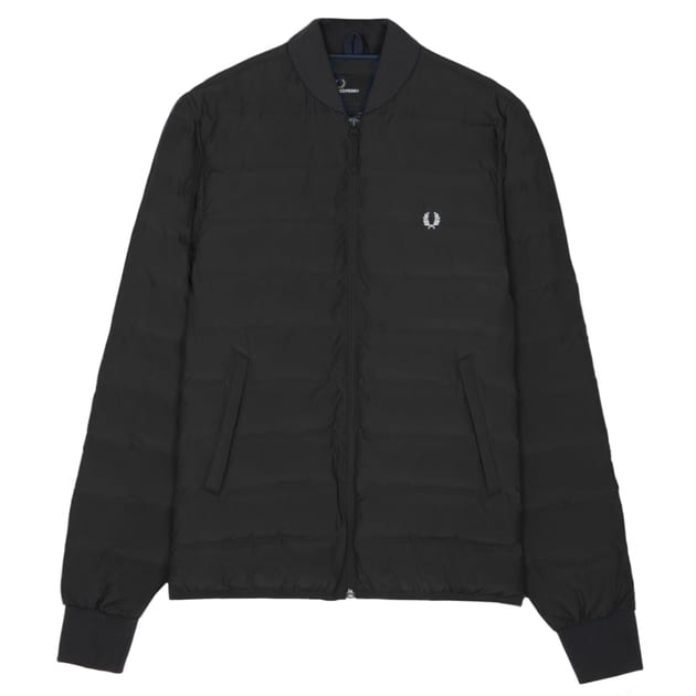 Fred Perry Insulated Bomber Jacket Schwarz