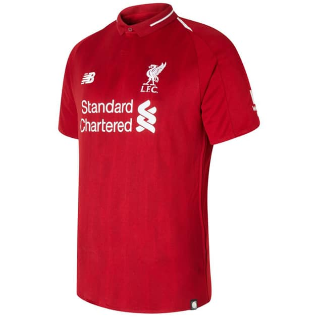 New Balance Liverpool Home Trikot Kids Rot