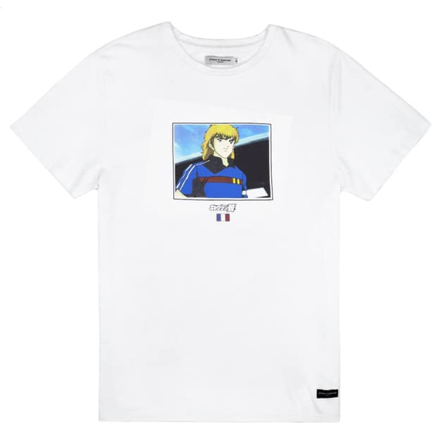 Lobster & Lemonade Captain Tsubasa Pierre Le Blanc Frankreich T-Shirt Weiß