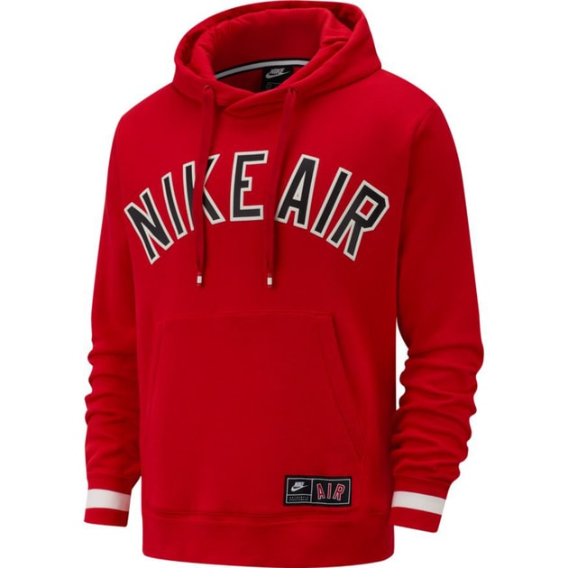 Nike M NSW Air Hoodie PO Fleece Rot