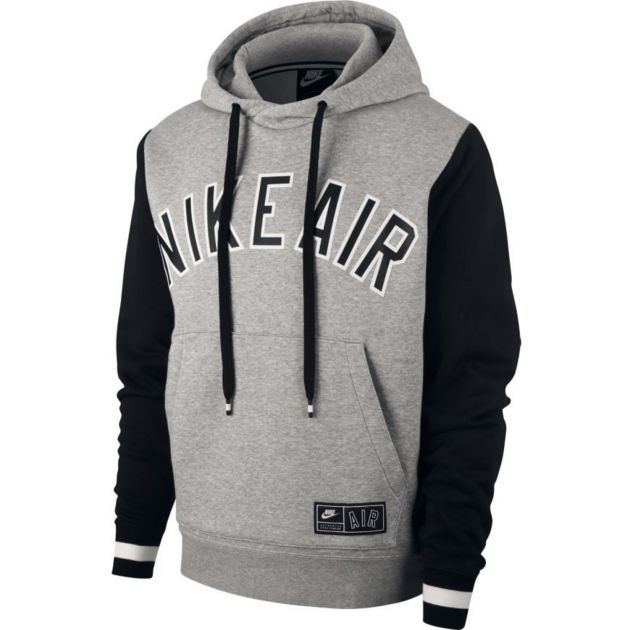 Nike M NSW Air Hoodie PO Fleece Hellgrau